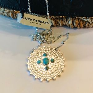 Lucky Brand Turquoise & Silver Pendant NWT